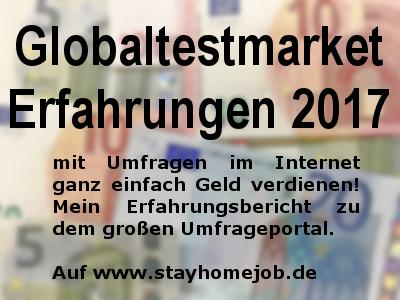 Globaltestmarket Erfahrungen 2017 Geld verdienen